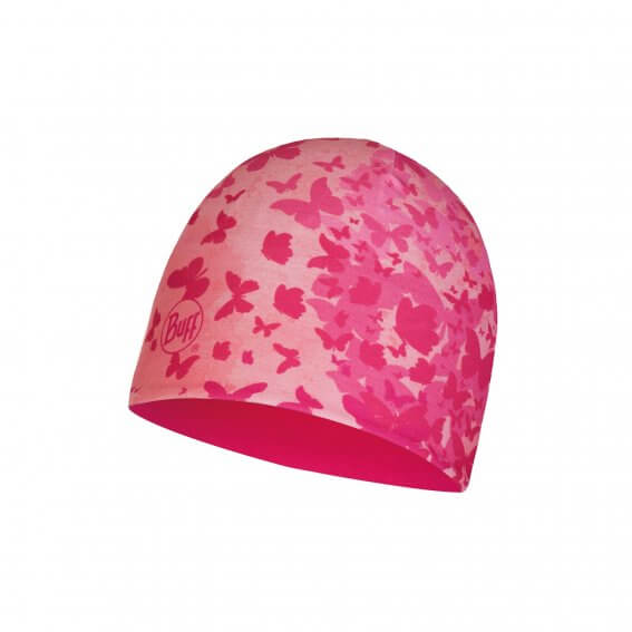MICRO & POLAR HAT CHILD BUTTERFLY PINK